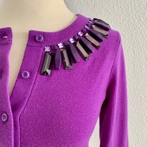 kate spade Kati Purple Embellished Cardigan!